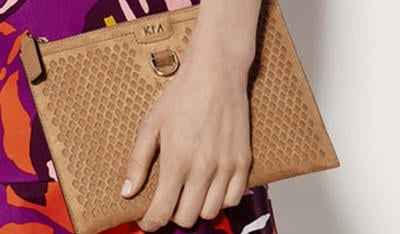 Picture of a Karen Millen clutch bag.