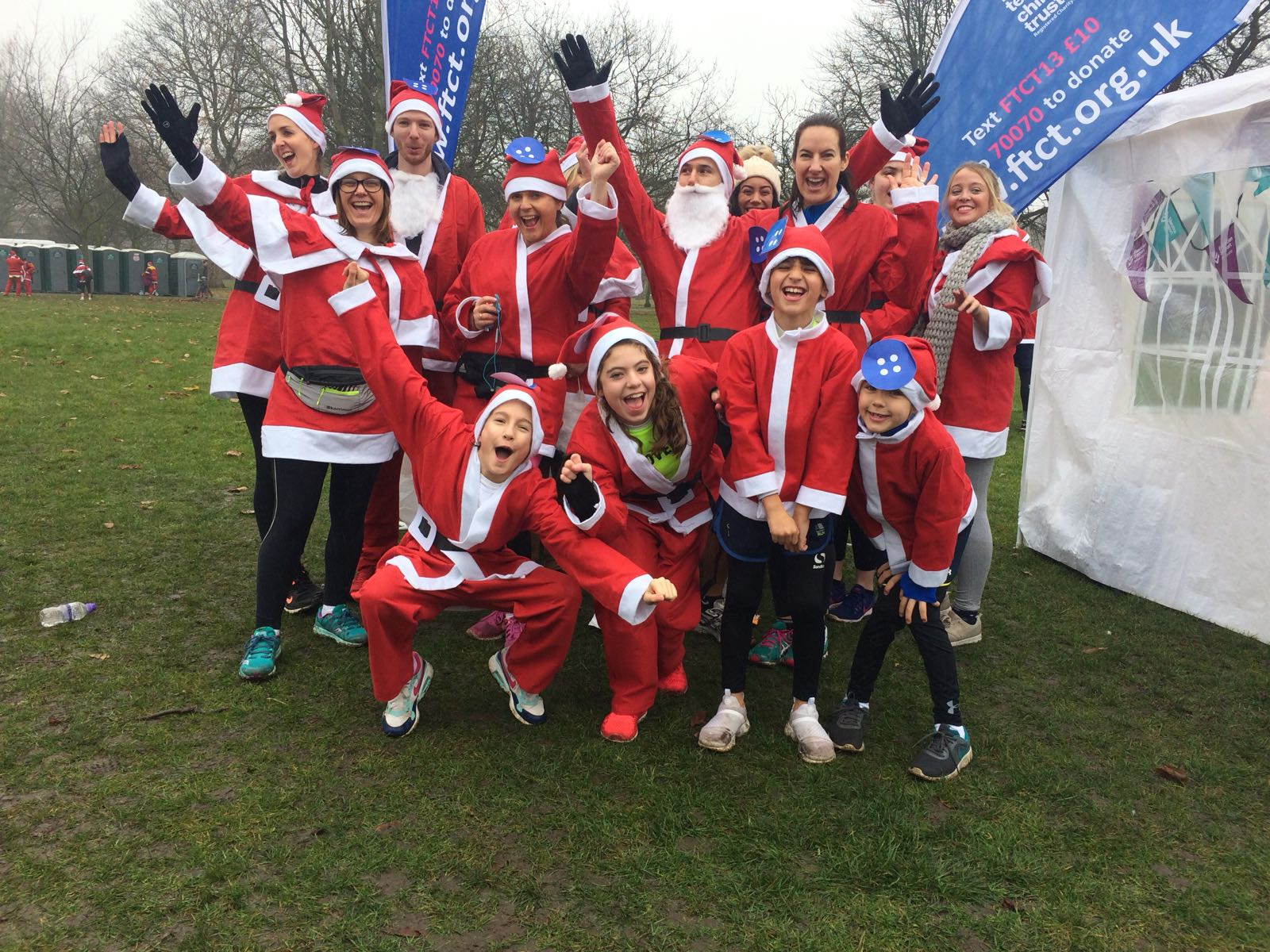 Team picture of Santa runners.