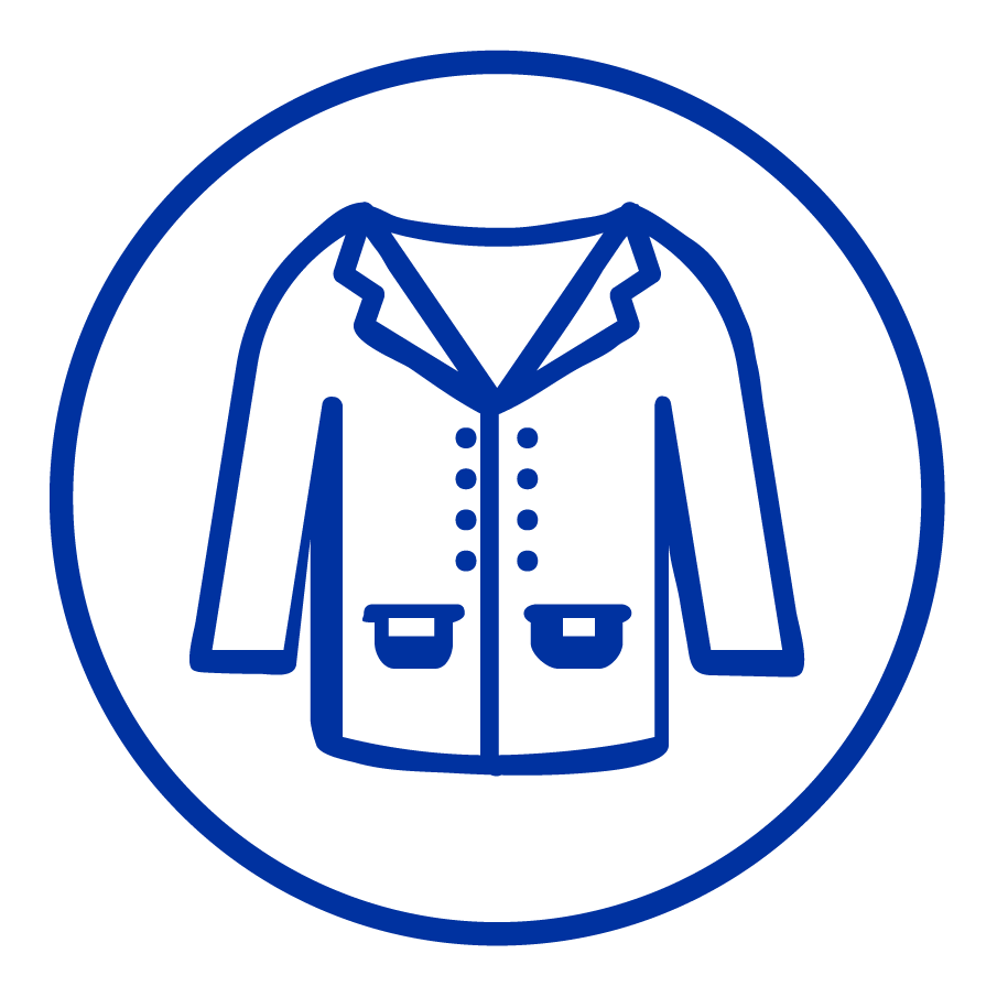 cartoon drawing of a jacket.