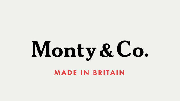 The words Monty & Co are in black text above the words Made in Britain below in red.