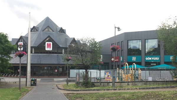 A picture of walthamstow shopping centre closed after the fire.