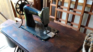 A donation from Great Grandmother Lucy's sewing machine